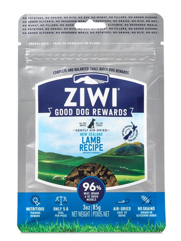ZIWI GOOD DOG REWARDS TREATS LAMB 85gm