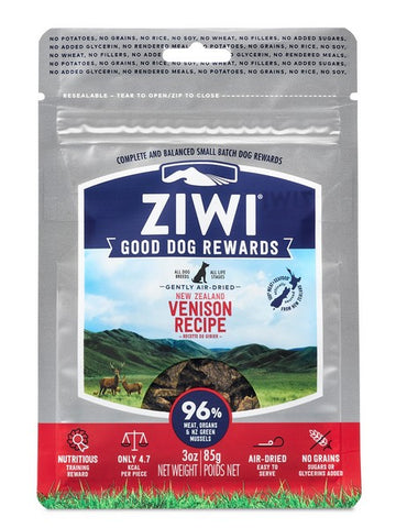 ZIWI GOOD DOG REWARDS TREATS VENISON 85gm