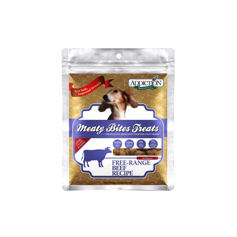 ADDICTION GRAIN FREE TREATS-BEEF 113gm