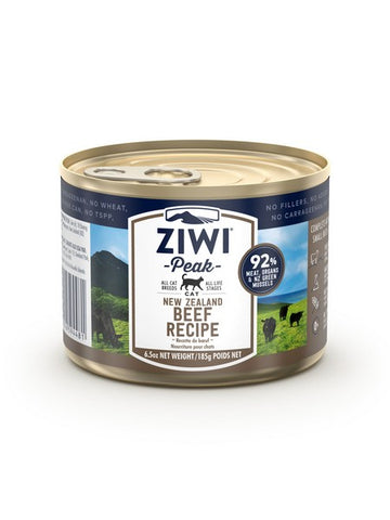 ZIWI PEAK CANNED CAT FOOD - BEEF 185gm