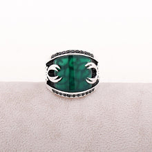 Load image into Gallery viewer, Jade Stone Silver Men Ring