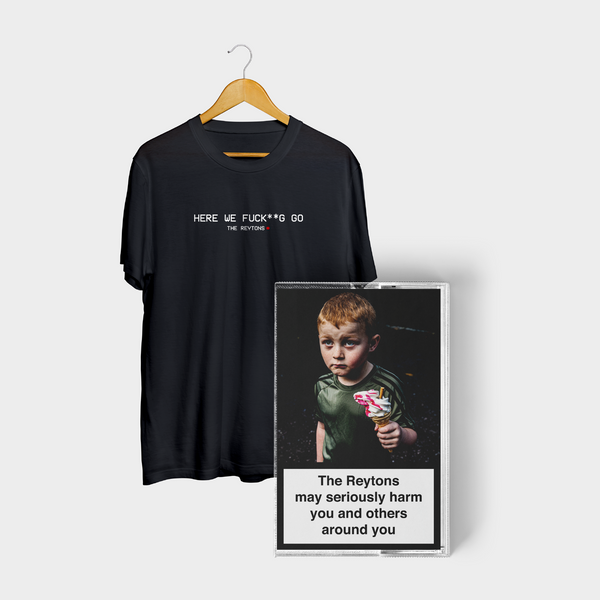 May Seriously Harm You and Others Around You EP - Tee & Cassette Bundle (Pre-Order)
