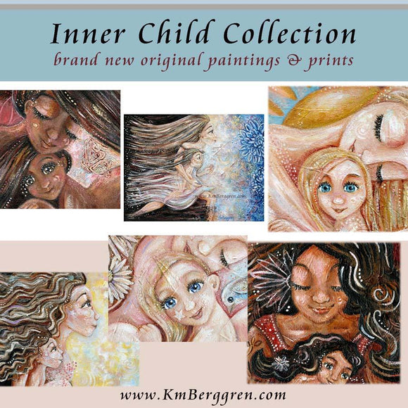 KmBerggren Inner Child Painting Collection - meaningful artwork for women