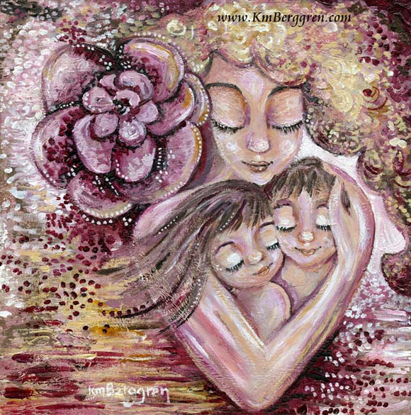 original paintings for mom, gift for parents wall art