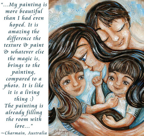 personalized family art painting, paintings for mom for mothers day