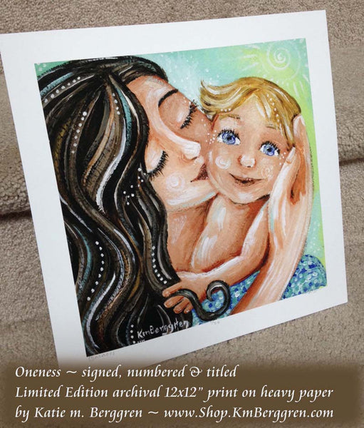 limited edition signed and numbered art print of motherhood art by KmBerggren