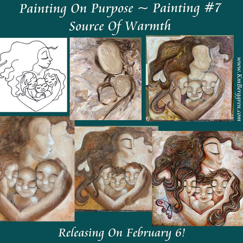 painting on purpose, painting for charity, kmberggren painting for Friends Of The Children Portland