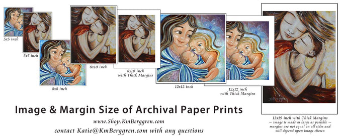 mom art prints on paper, easy to frame in a variety of sizes by KmBerggren