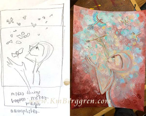 kmberggren silent story art therapy paintings book about breakup