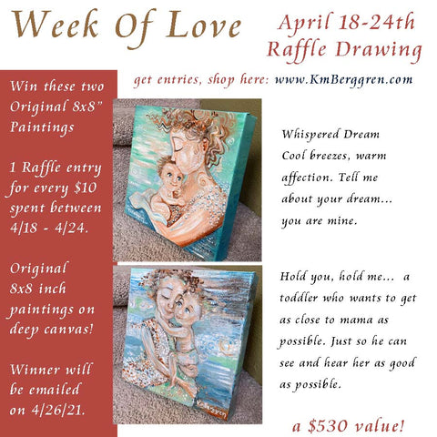 week of love, kmberggren art gifts and mother child art