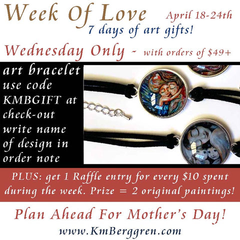week of love with KmBerggren mother's day gifts of art