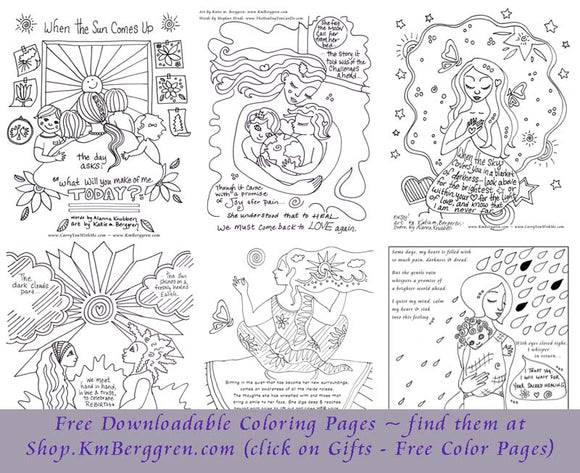 free motherhood and empowerment coloring pages by KmBerggren
