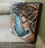 Bundle Of Light - Original 8x8 inch painting on canvas