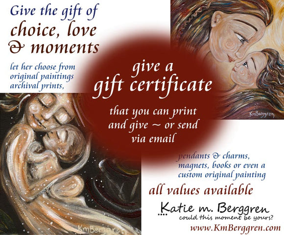 give the gift of choice with a motherhood artwork gift card from KmBerggren