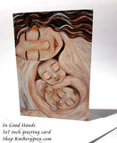 card art for mother of twins, twin babies art