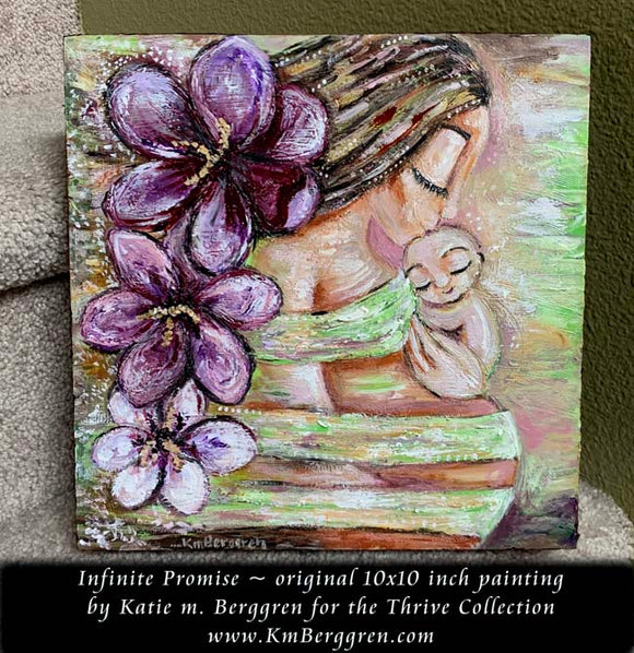 Infinite Promise - Original 10x10 inch painting on deep cradled wood panel