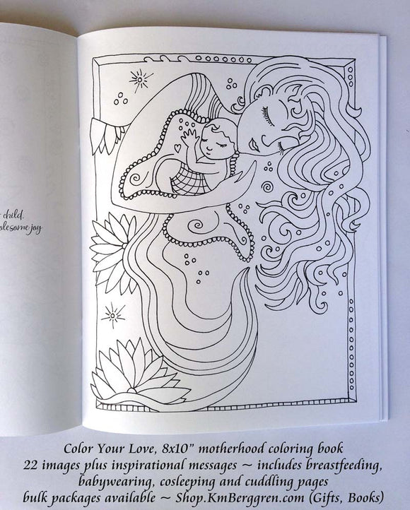 Mother and Child Coloring books for adult and child coloring by Katie m. Berggren