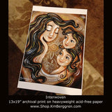 Interwoven - Woman And 2 Daughters Art Print