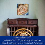 Love Above All - Original 12x12 Two Mothers Same Sex Family Painting