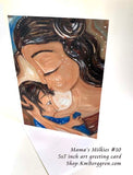 breastfeeding mother greeting card blank inside, mother baby gift