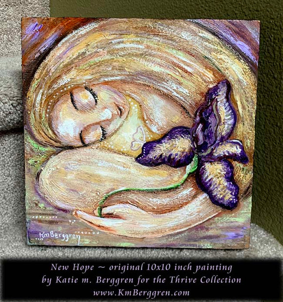 New Hope - Original 10x10 inch painting on deep cradled wood panel