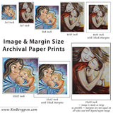 samples of available KmBerggren art prints on paper