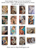 Choice Samples for Family Personalization of Mini Motherhood Art prints from Katie m. Berggren