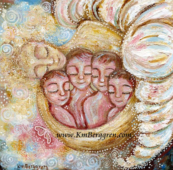 Soul Deep - Angel Mother or Father Art Print
