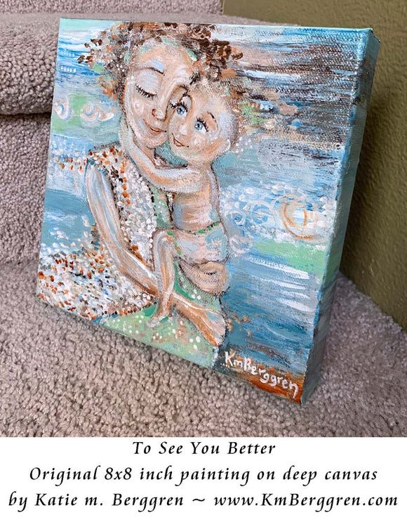 To See You Better - Original 8x8 inch painting on canvas