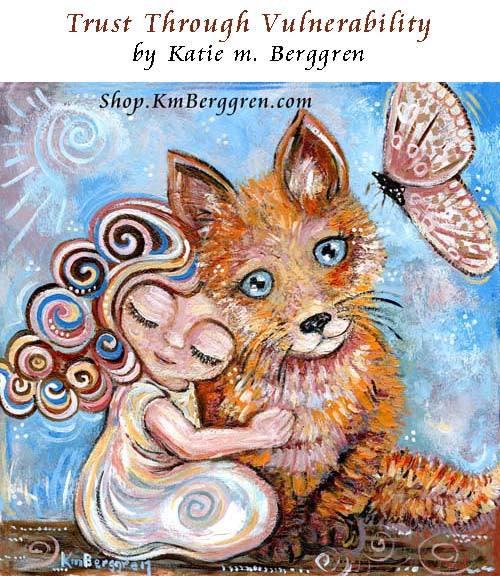 little girl with fox and pink butterfly art print, gift for mom of a little girl, whimsical animal artwork for a little girls bedroom
