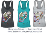 Motherhood art tank tops