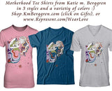 Motherhood art t-shirts in color options