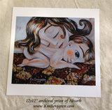 Absorb - Sleeping Mom Art Print