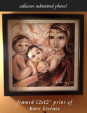 framed mom with three kids art print