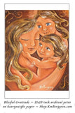 13x19 art print sample of mother with two daughters
