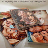 a set of artwork greeting cards from Katie m. Berggren