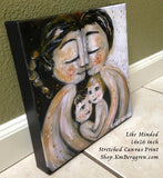 Like Minded - Father, Mother, 2 Children Art Print