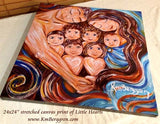 canvas art print of Little Hearts by Katie m. Berggren