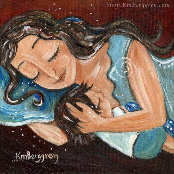 KmBerggren art from the Mama's Milkies book by Stephanie Craft