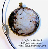 glass art pendant 1.5 inches across handmade by the artist