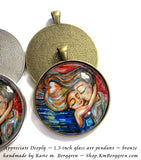 Appreciate Deeply - 1.5 inch round glass art pendant