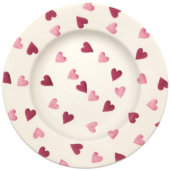 "Pink Hearts 10 1/2"" Plate"
