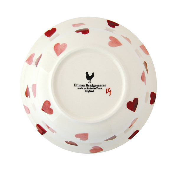 Pink Hearts Cereal Bowl