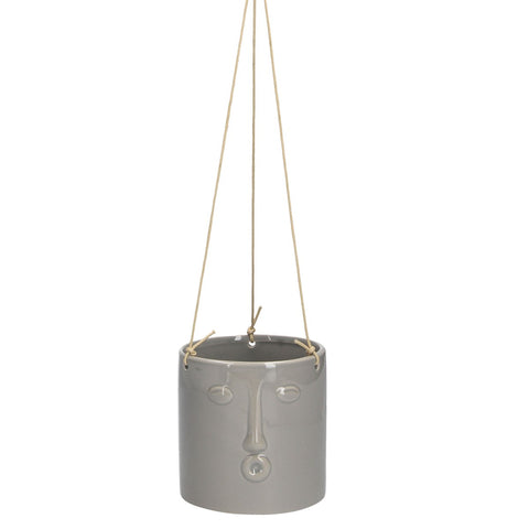 Grey Face Hanging Pot Cover