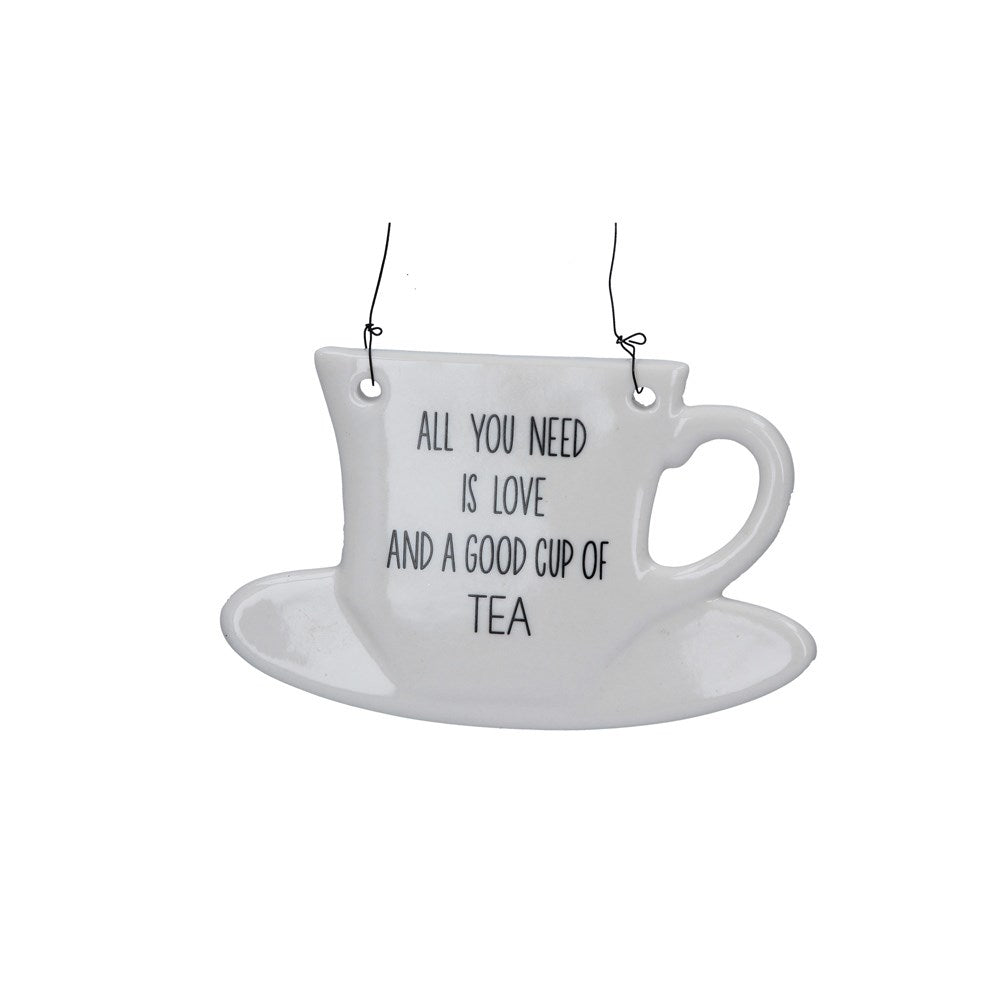 Good Cup of Tea Ceramic Plaque