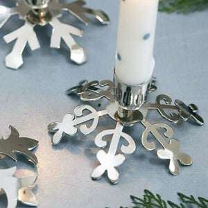 Metal Snowflake Candle Holder