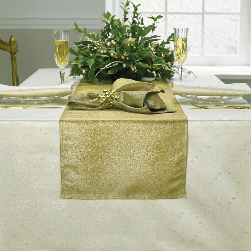 Gold Wide Table Runner