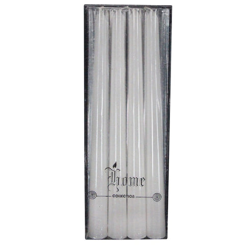 White Glitter Taper Candles (Set of 4)