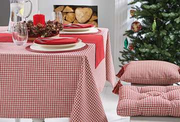 Bellecote Red Check Tablecloth
