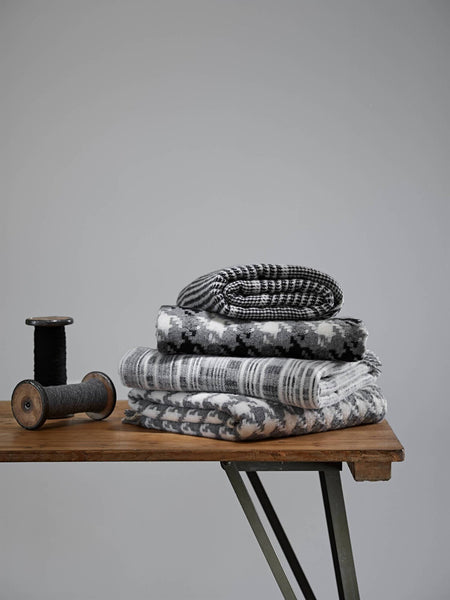 Merino Lambswool Multistripe Grey Throw